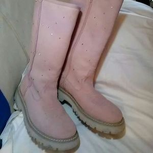 ROPER pink suede boots